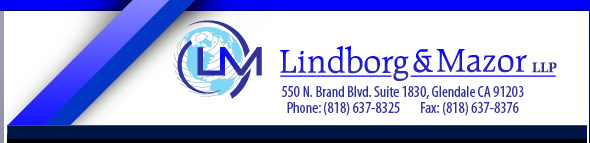 Lindborg & Drill LLP - Glendale Attorneys | 550 N. Brand Blvd. Suite 1830   Glendale CA 91203   Phone: (818) 637-8325 Fax: (818) 637-8376